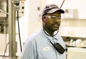 Photo of factory worker